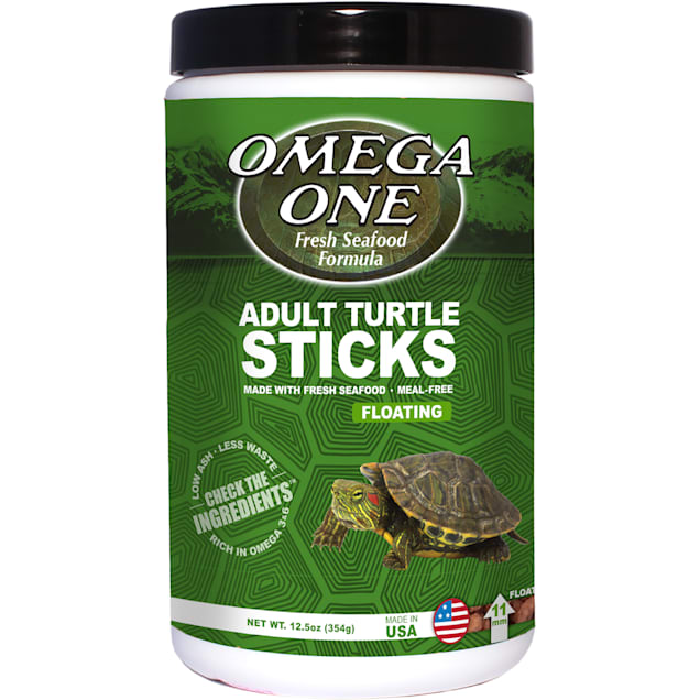 Omega One Natural Protein Formula Adult Turtle Sticks, 12.5 oz. - Carousel image #1