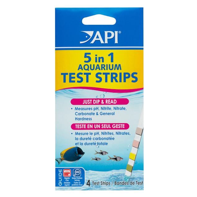 API 5 in 1 Aquarium Water Test Strips, 4 count - Carousel image #1