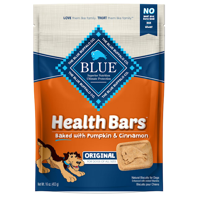 Blue Buffalo Blue Health Bars With Pumpkin and Cinnamon Dog Treats, 16 oz. - Carousel image #1