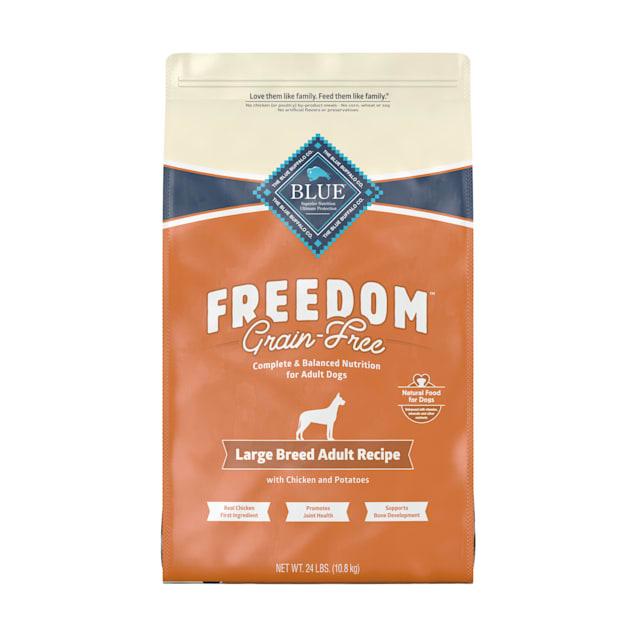 Blue Buffalo Blue Freedom Grain-Free Large Breed Adult Chicken Recipe Dry Dog Food, 24 lbs. - Carousel image #1