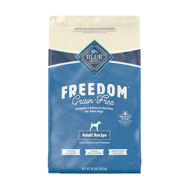 Blue Buffalo Freedom Grain Free Natural Adult Chicken Dry Dog Food, 24 lbs. - Carousel image #1