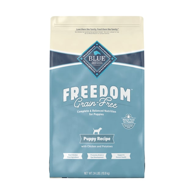 Blue Buffalo Blue Freedom Grain-Free Puppy Chicken Recipe Dry Dog Food, 24 lbs. - Carousel image #1