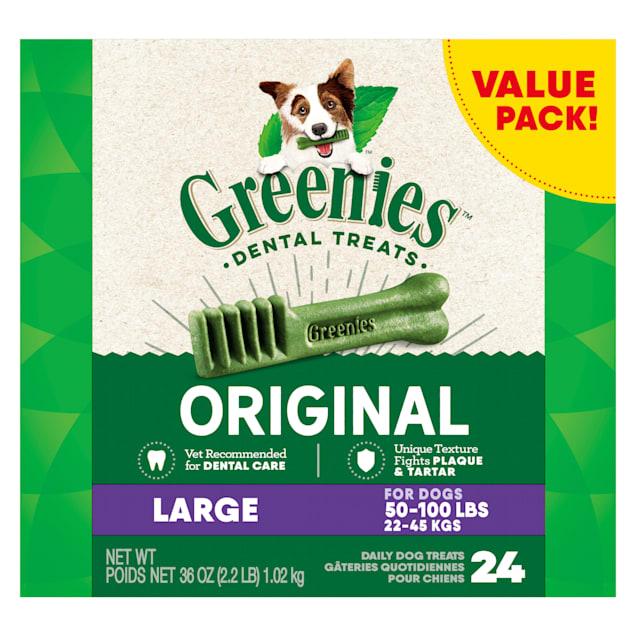 Greenies Original Large Natural Dog Dental Care Chews Oral Health Dog Treats, 36 oz., Count of 24 - Carousel image #1