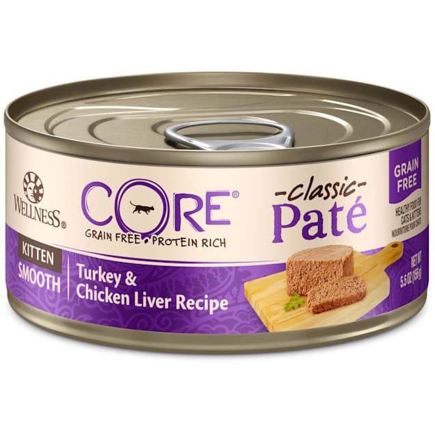 Wellness CORE Natural Grain Free Chicken & Turkey Pate Wet Kitten Food, 5.5 oz., Case of 24 - Carousel image #1