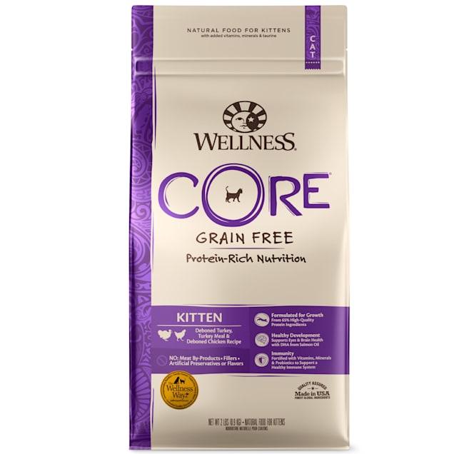 Wellness CORE Natural Grain Free Whitefish & Chicken Dry Kitten Food, 2 lbs. - Carousel image #1