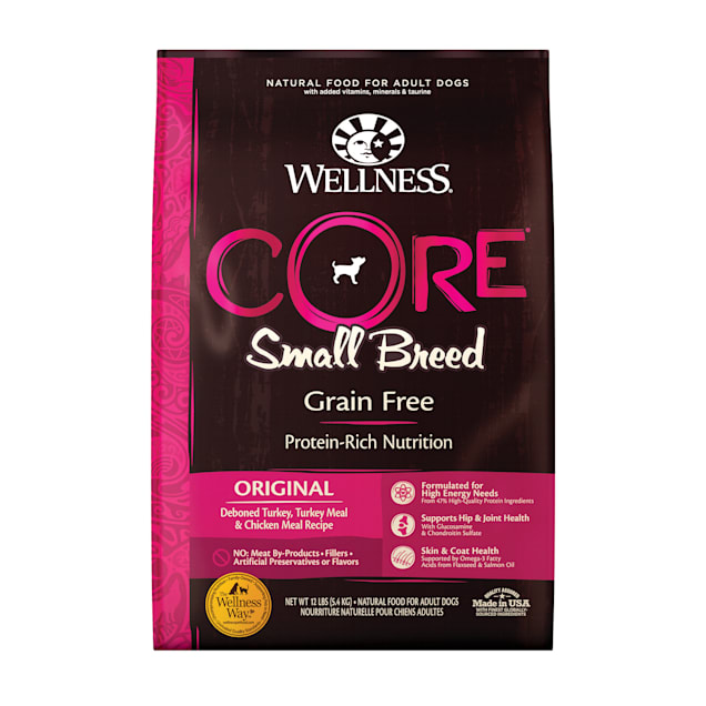 Wellness CORE Natural Grain Free Small Breed Dry Dog Food, 12 lbs. - Carousel image #1