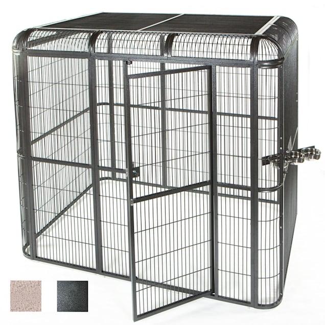 """A&E Cage Company 110"""" X 62"""" Walk In Aviary in Black - Carousel image #1"""