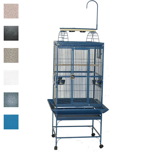 "A&E Cage Company 24"" X 22"" Play Top Bird Cage in White - Carousel image #1"