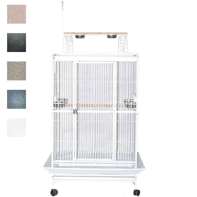 """A&E Cage Company 40"""" X 30"""" Play Top Bird Cage in Stainless Steel - Carousel image #1"""