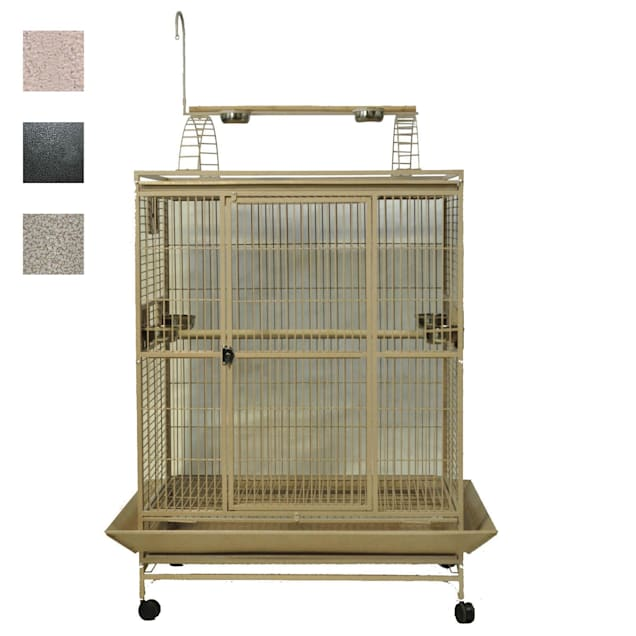 """A&E Cage Company 48"""" X 36"""" Play Top Bird Cage in Platinum - Carousel image #1"""