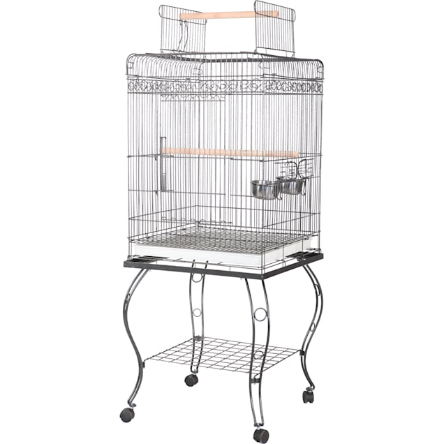 "A&E Cage Company 20"" X 20"" Play Top Bird Cage in White - Carousel image #1"