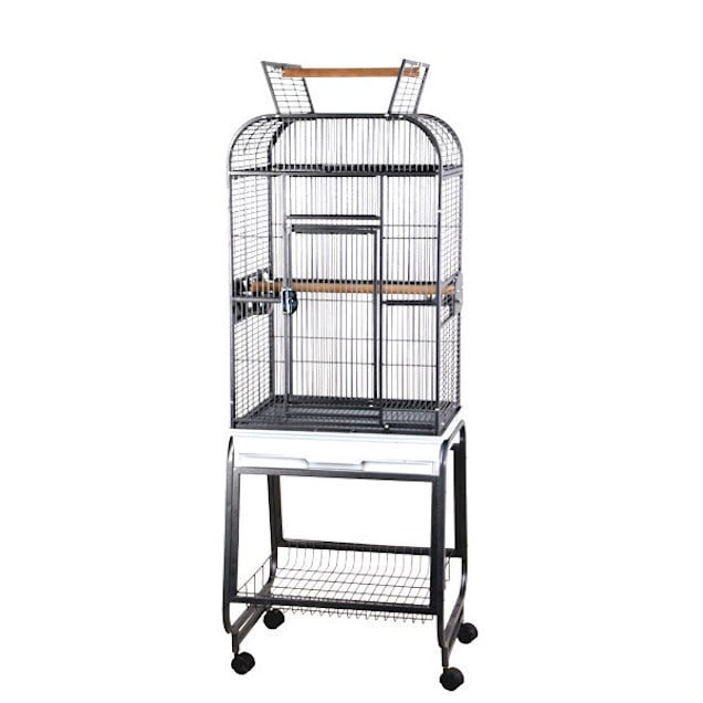 """A&E Cage Company Flat-Top Playtop Bird Cage with Plastic Base, 20"""" L X 17"""" W X 35"""" H - Carousel image #1"""