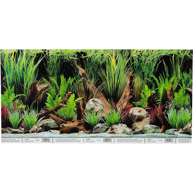 Hagen Marina Reversible Aquarium Background in Planted Oasis/Slate Wall - Carousel image #1