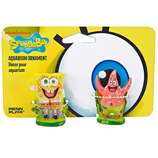 "Penn Plax SpongeBob & Patrick Aquarium Ornament, Pack of 2 ornaments, 1"" L X 1"" W X 2"" H - Carousel image #1"