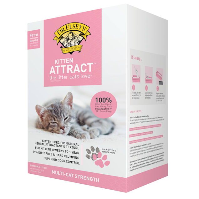 Dr. Elsey's Kitten Attract Clumping Clay Cat Litter, 20 lbs. - Carousel image #1