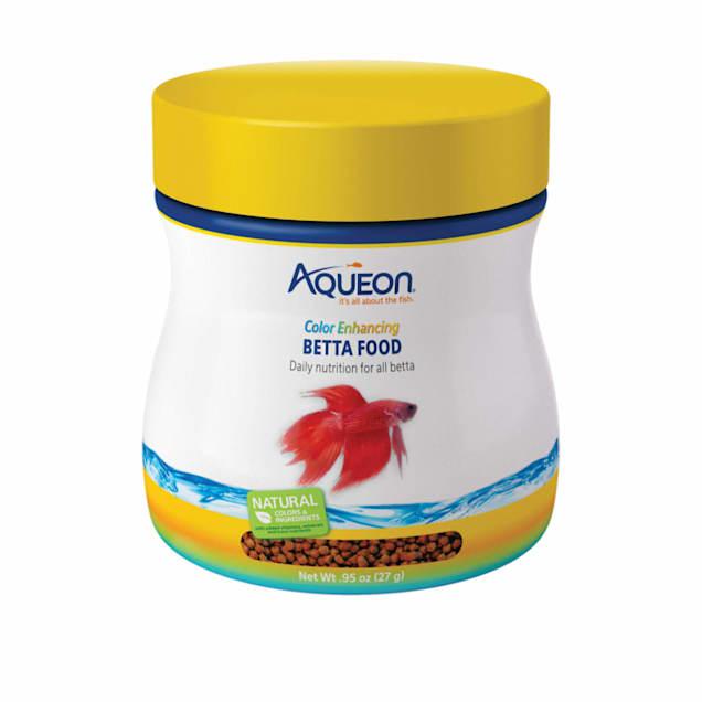 Aqueon Betta Color Enhancing Pellets Betta Food, .95 oz. - Carousel image #1