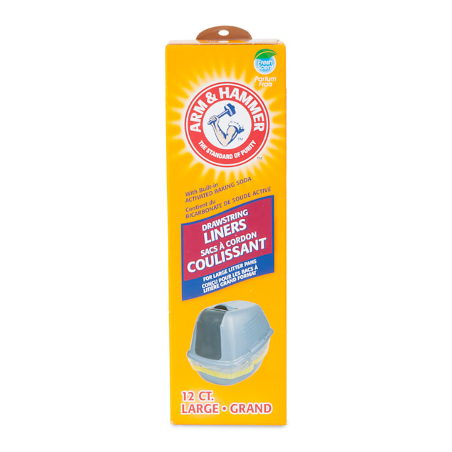 Arm & Hammer Drawstring Liners Large Fresh Scent Cat Litter, Count of 12 - Carousel image #1