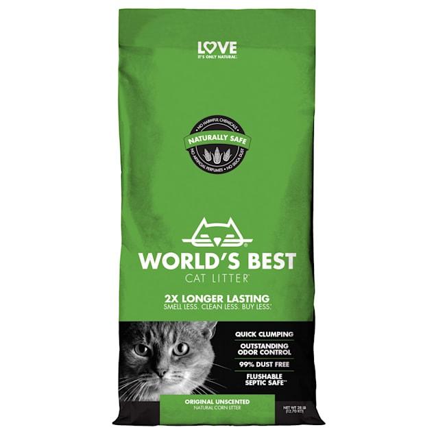 World's Best Original Series Clumping Unscented Cat Litter, 28 lbs. - Carousel image #1