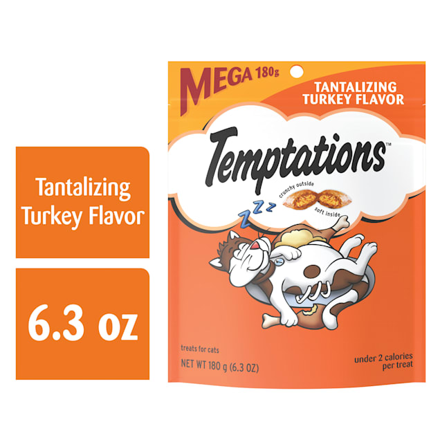 Temptations Classic Tantalizing Turkey Flavor Cat Treats, 6.3 oz. - Carousel image #1