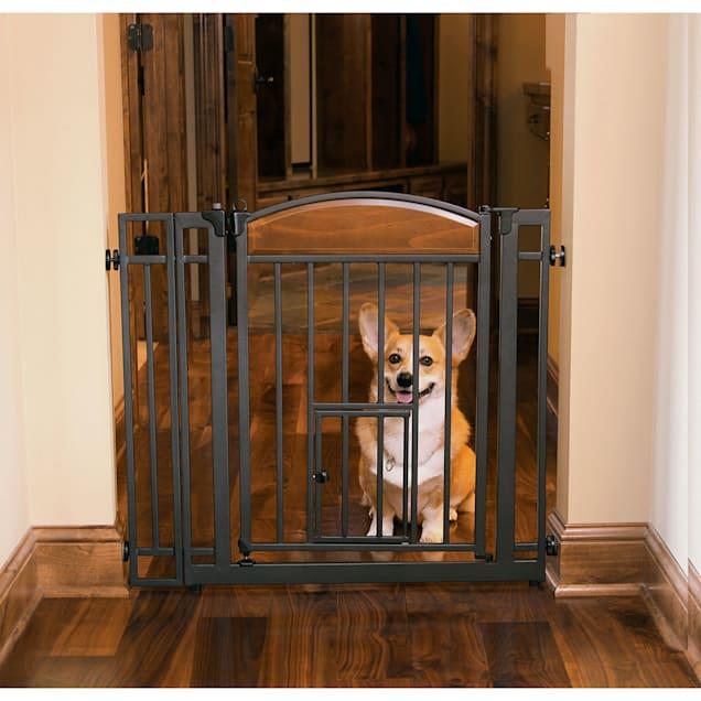 Carlson Pet Products Design Studio Metal Walk-Thru Pet Gate - Carousel image #1