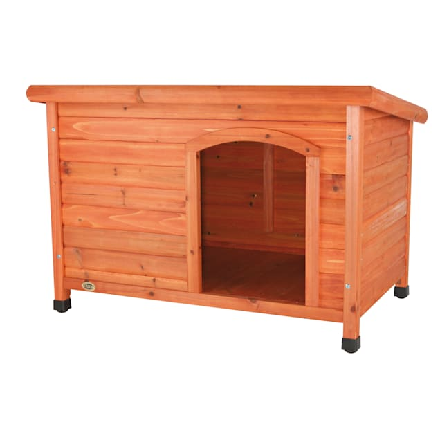 """TRIXIE Natura Flat Roof Dog House, 40.75"""" L X 26.75"""" W X 28.25"""" H, Large - Carousel image #1"""
