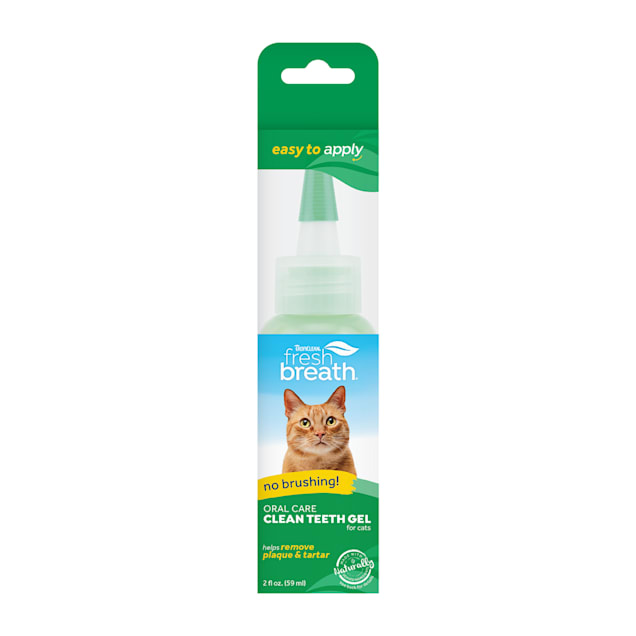 TropiClean Fresh Breath Clean Teeth Gel for Cats, 2 fl. oz. - Carousel image #1