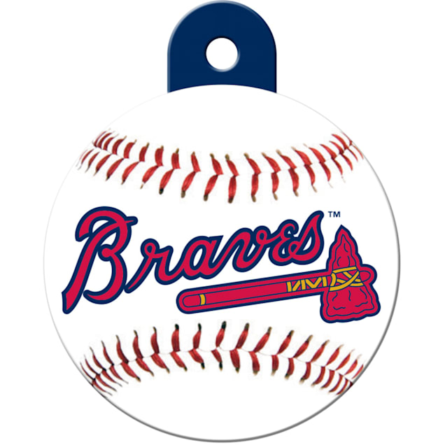 "Quick-Tag Atlanta Braves MLB Personalized Engraved Pet ID Tag, 1 1/4"" W X 1 1/2"" H - Carousel image #1"