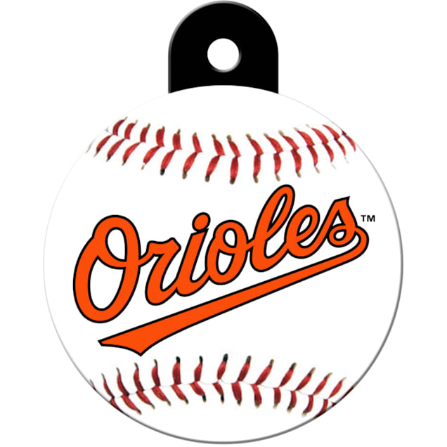 "Quick-Tag Baltimore Orioles MLB Personalized Engraved Pet ID Tag, 1 1/4"" W X 1 1/2"" H - Carousel image #1"