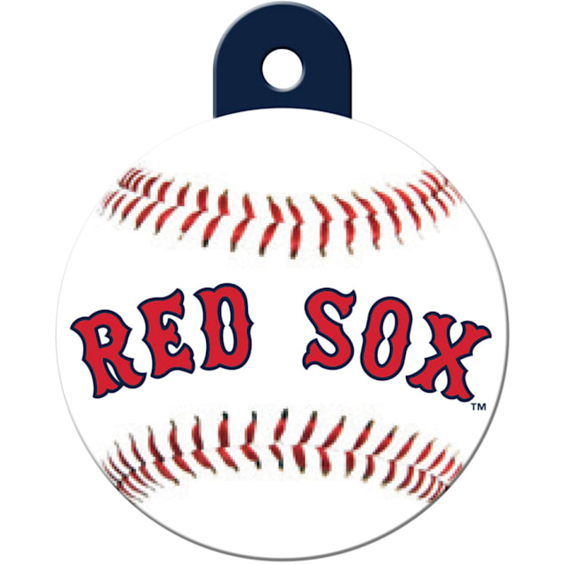 """Quick-Tag Boston Red Sox MLB Personalized Engraved Pet ID Tag, 1 1/4"""" W X 1 1/2"""" H - Carousel image #1"""