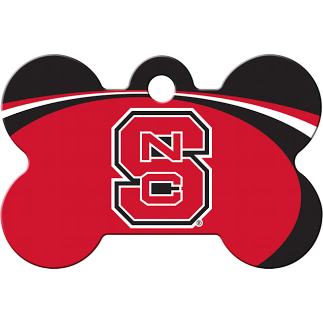 "Quick-Tag North Carolina State NCAA Bone Personalized Engraved Pet ID Tag, 1 1/2"" W X 1"" H - Carousel image #1"