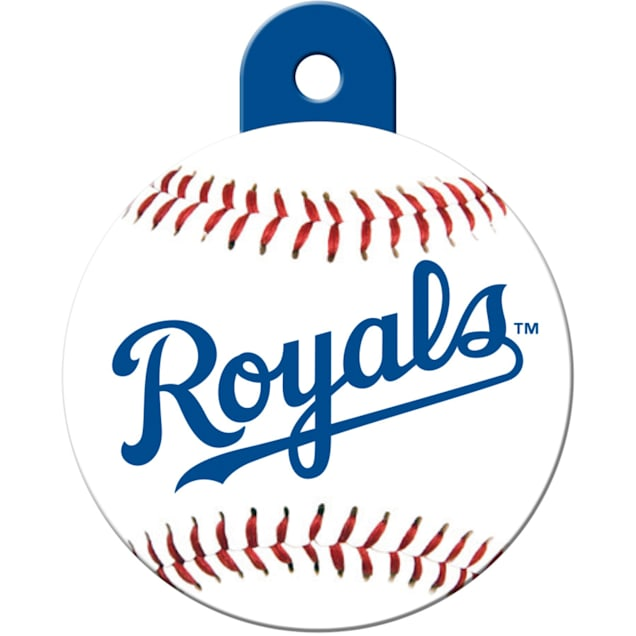 """Quick-Tag Kansas City Royals MLB Personalized Engraved Pet ID Tag, 1 1/4"""" W X 1 1/2"""" H - Carousel image #1"""