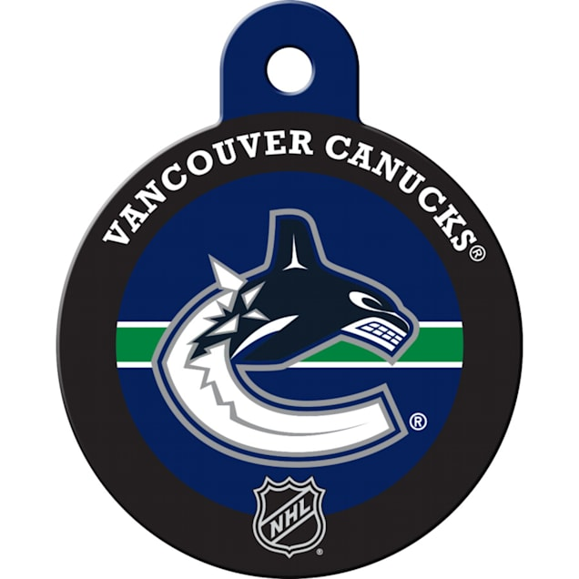 """Quick-Tag Vancouver Canucks NHL Personalized Engraved Pet ID Tag, 1 1/4"""" W X 1 1/2"""" H - Carousel image #1"""