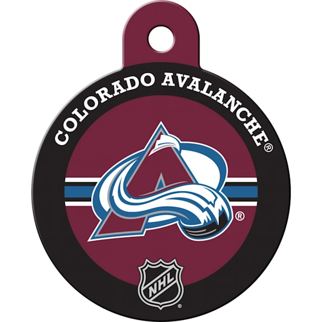 "Quick-Tag Colorado Avalanche NHL Personalized Engraved Pet ID Tag, 1 1/4"" W X 1 1/2"" H - Carousel image #1"