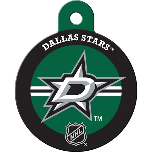 """Quick-Tag Dallas Stars NHL Personalized Engraved Pet ID Tag, 1 1/4"""" W X 1 1/2"""" H - Carousel image #1"""