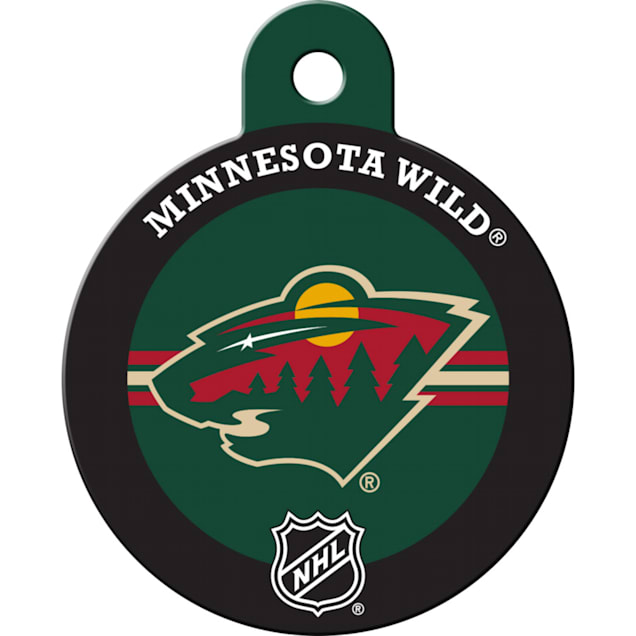 "Quick-Tag Minnesota Wild NHL Personalized Engraved Pet ID Tag, 1 1/4"" W X 1 1/2"" H - Carousel image #1"