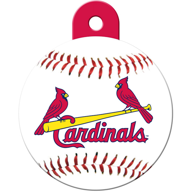 """Quick-Tag St. Louis Cardinals MLB Personalized Engraved Pet ID Tag, 1 1/4"""" W X 1 1/2"""" H - Carousel image #1"""