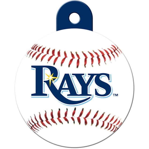 """Quick-Tag Tampa Bay Rays MLB Personalized Engraved Pet ID Tag, 1 1/4"""" W X 1 1/2"""" H - Carousel image #1"""