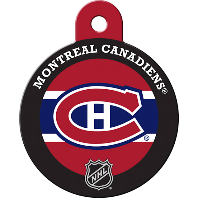 """Quick-Tag Montreal Canadiens NHL Personalized Engraved Pet ID Tag, 1 1/4"""" W X 1 1/2"""" H - Carousel image #1"""