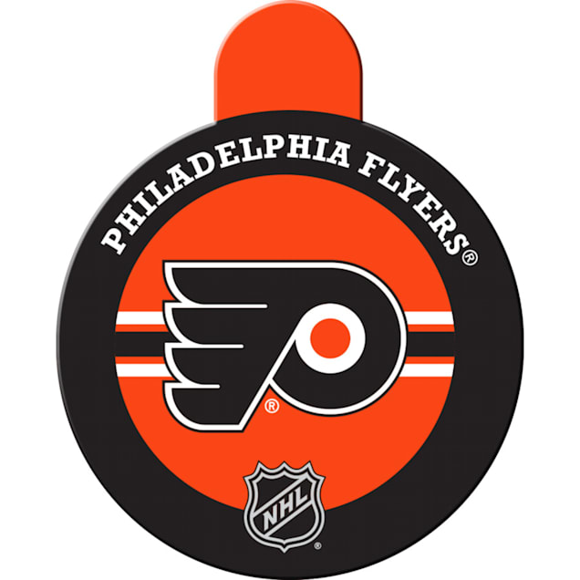 """Quick-Tag Philadelphia Flyers NHL Personalized Engraved Pet ID Tag, 1 1/4"""" W X 1 1/2"""" H - Carousel image #1"""