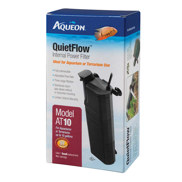 Aqueon QuietFlow 10 Internal Power Filter, up to 10 gallon - Carousel image #1