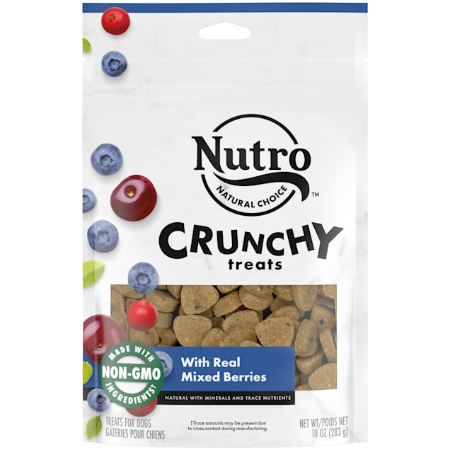 NUTRO Crunchy With Real Mixed Berries Dog Treats, 10 oz., Bag - Carousel image #1