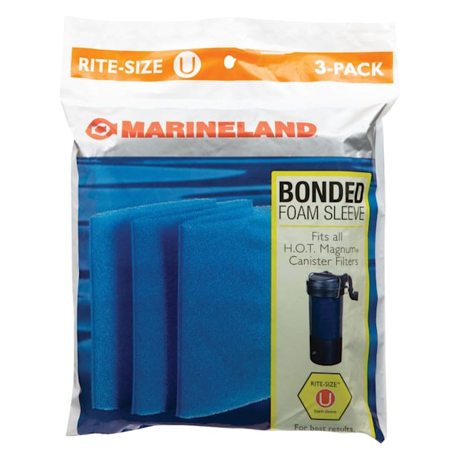 Marineland Rite-Size Bonded Filter Sleeve for HOT Magnum, Pack of 3 - Carousel image #1