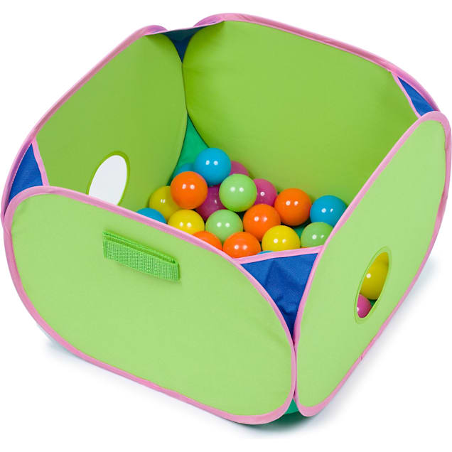 """Marshall Pet Products Pop N Play Ferret Ball Pit Toy, 14"""" L X 14"""" W X 10"""" H - Carousel image #1"""