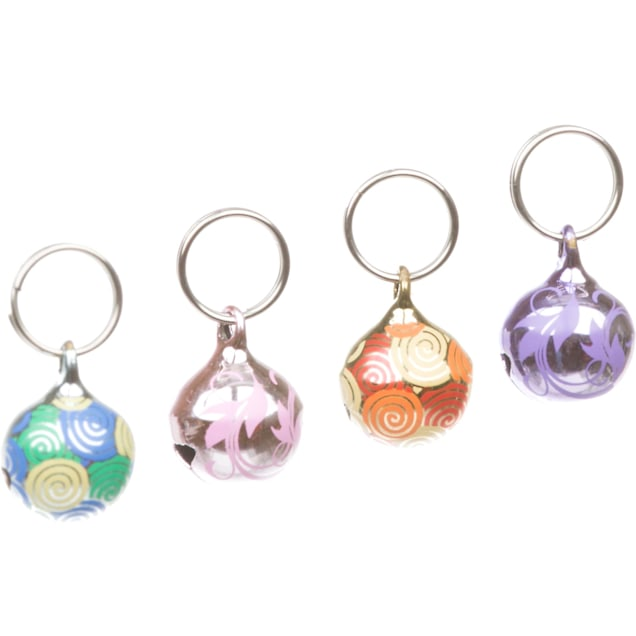 Petco Patterned Accessory Bells for Cat Collars in Assorted Colors, 2 Pack - Carousel image #1