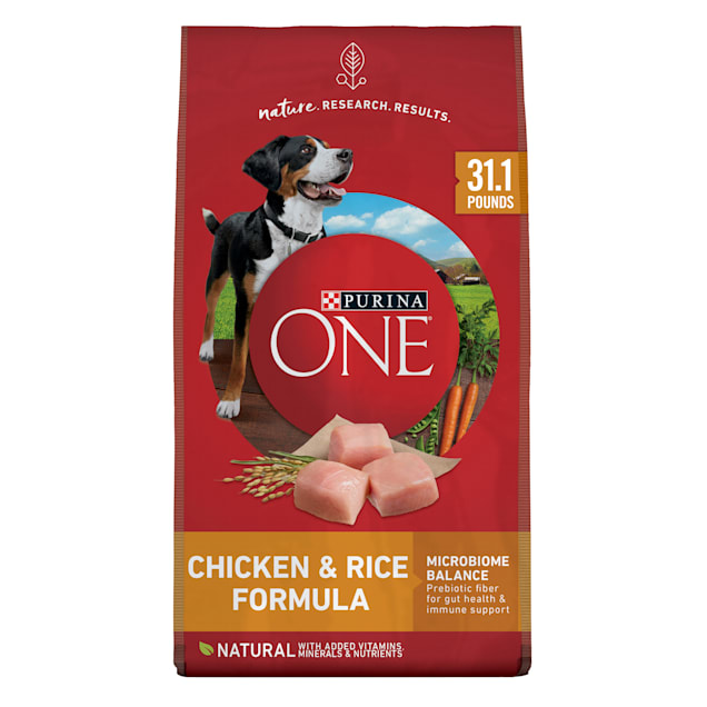 Purina ONE SmartBlend Natural Chicken & Rice Formula Dry Dog Food, 31.1 lbs., Bag - Carousel image #1