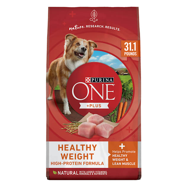Purina ONE Weight Management, Natural SmartBlend Healthy Weight Formula Dry Dog Food, 31.1 lbs., Bag - Carousel image #1