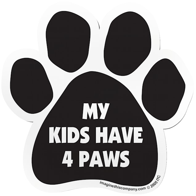 """Imagine This """"My Kids Have 4 Paws"""" Paw Car Magnet - Carousel image #1"""