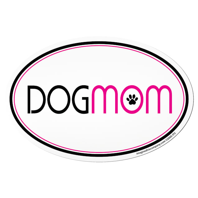 """Imagine This """"Dog Mom"""" Oval Car Magnet - Carousel image #1"""