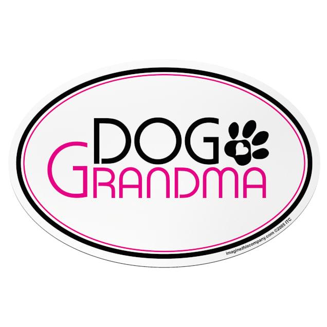 "Imagine This ""Dog Grandma"" Oval Car Magnet - Carousel image #1"