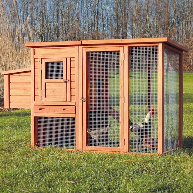Trixie Natura Flat Roof Chicken Coop with Outdoor Run - Carousel image #1